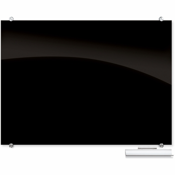 Visionary Black Magnetic Glass Dry Erase Board