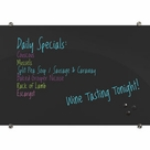Visionary Black Magnetic Glass Dry Erase Board 3'H x 4'W