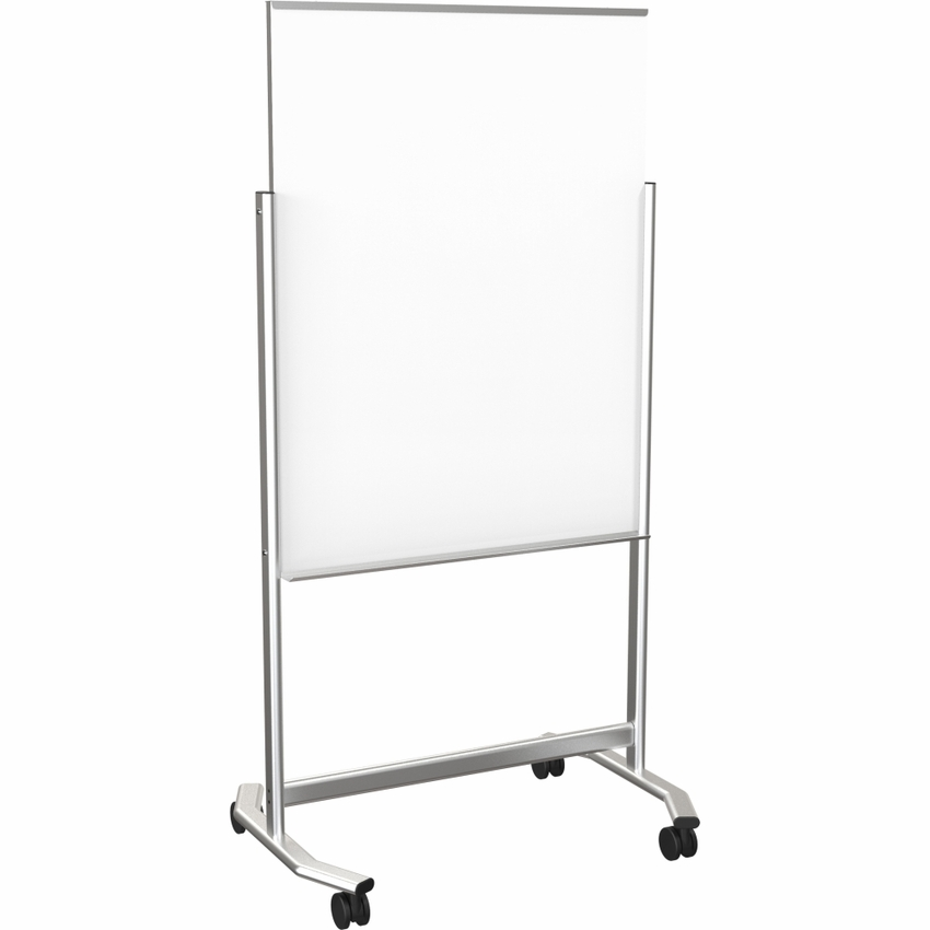 Visionary Move Mobile Magnetic Glass Whiteboard