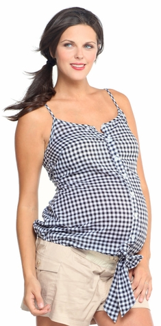 SOLD OUT 1 in the Oven Checker Maternity Top