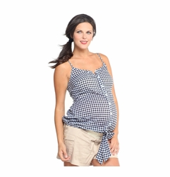 1 in the Oven Checker Maternity Top