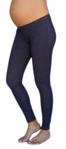 1 In The Oven Denim Knit Maternity Leggings