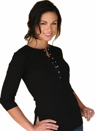 SOLD OUT 1 in the Oven Maternity & Nursing Top Henley