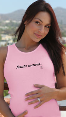 """SOLD OUT 2 Chix """"Haute Mama"""" Maternity Tank Top"""