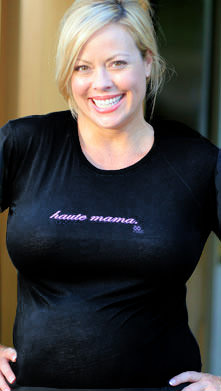 "SOLD OUT 2 Chix ""Haute Mama"" Voluptuous Maternity T-Shirt"