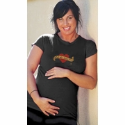 "2 Chix ""Let The Love Grow"" Voluptuous Maternity T-Shirt"