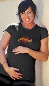 """SOLD OUT 2 Chix """"Let The Love Grow"""" Voluptuous Maternity T-Shirt"""