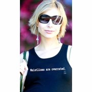 "2 Chix ""Waistlines Are Overrated"" Maternity Tank Top"