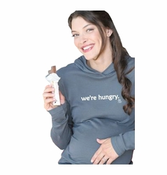 "2 Chix ""We're Hungry"" Maternity Hoodie"