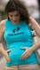 "SOLD OUT 2 Chix ""What's Kickin'""-Aqua Maternity Tank Top"