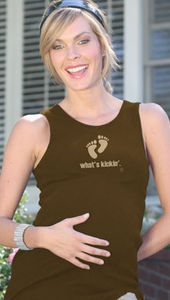 "SOLD OUT 2 Chix ""What's Kickin'"" Maternity Tank Top"