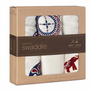 SOLD OUT Aden + Anais Bamboo Swaddles 3 Pack - Diwali