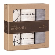 TEMPORARILY OUT OF STOCK Aden + Anais Bamboo Swaddles 3 Pack - Moonlight