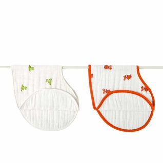 Aden + Anais Classic Burpy Bibs 2 Pack - Mod About Baby Frog & Fish