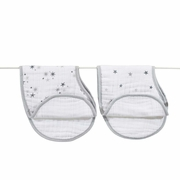 Aden + Anais Classic Burpy Bibs 2 Pack - Twinkle Grey Star