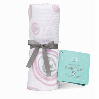 Aden + Anais Classic Swaddle Single Pack - Have A Heart Pink