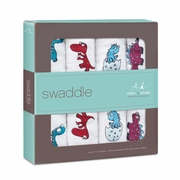 Aden + Anais Classic Swaddles 4 Pack - Dino-Mite