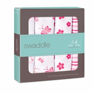 Aden + Anais Classic Swaddles 4 Pack - Princess Posie