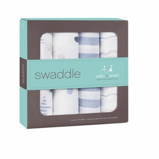TEMPORARILY OUT OF STOCK Aden + Anais Classic Swaddles 4 Pack - Rock Star