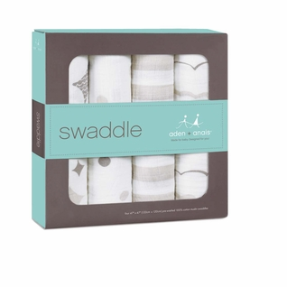 TEMPORARILY OUT OF STOCK Aden + Anais Classic Swaddles 4 Pack - Shine On