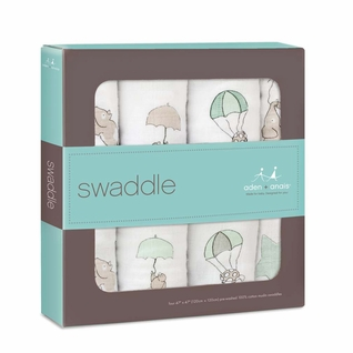 Aden + Anais Classic Swaddles 4 Pack - Up And Away