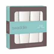 TEMPORARILY OUT OF STOCK Aden + Anais Classic Swaddles 4 Pack - White