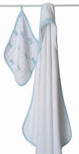 Aden + Anais Hide and Sea Baby Hooded Towel and Wash Cloth Set