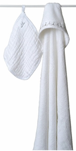 Aden + Anais Water Baby Hooded Towel and Washcloth Set