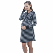 Annee Matthew Carey Cotton Maternity Nursing Night Shirt