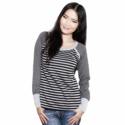 Annee Matthew Striped Raglan Nursing Top