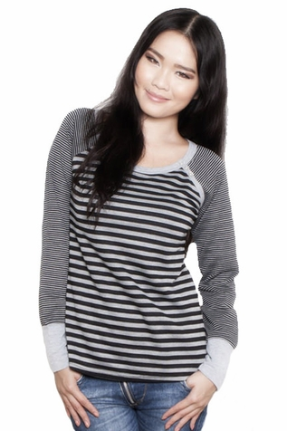 SOLD OUT Annee Matthew Striped Raglan Nursing Top