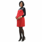 Annee Matthew Susie Maternity Nursing Dress With Turtleneck