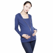 Annee Matthew Zoe Zipped Maternity And Nursing Hoodie