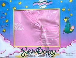 SOLD OUT Baby Scrub Inc. Newborn Scrub Set Baby Keepsake - Girl