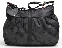 Babymel Amanda Hobo Diaper Bag - Black Jungle Floral