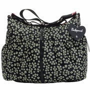 Babymel Amanda Hobo Diaper Bag - Mini Daisy Black/White