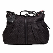 TEMPORARILY OUT OF STOCK Babymel Amanda Quilted Hobo Diaper Bag - Black