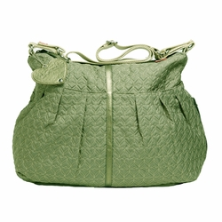 Babymel Amanda Quilted Hobo Diaper Bag - Moss