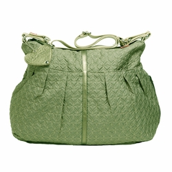 SOLD OUT Babymel Amanda Quilted Hobo Diaper Bag - Moss