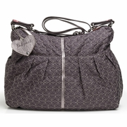 Babymel Amanda Quilted Hobo Diaper Bag - Pewter Grey