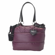 SOLD OUT Babymel Camden Carry All Puff Diaper Bag - Aubergine