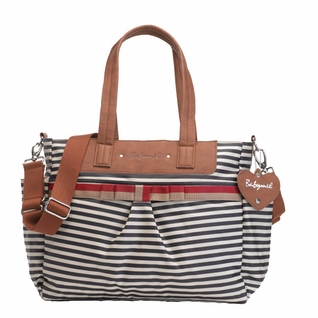 TEMPORARILY OUT OF STOCK Babymel Cara Tote Diaper Bag - Navy Stripe