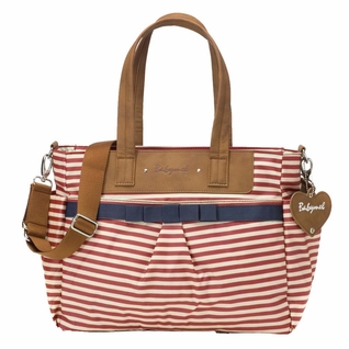 TEMPORARILY OUT OF STOCK Babymel Cara Tote Diaper Bag - Red Stripe