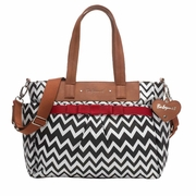 TEMPORARILY OUT OF STOCK Babymel Cara Tote Diaper Bag - Zig Zag