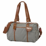 SOLD OUT Babymel Ella Duffel Diaper Bag - Navy Stripe