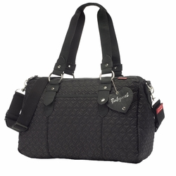 Babymel Ella Quilted Shoulder Diaper Bag - Black
