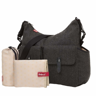 TEMPORARILY OUT OF STOCK Babymel Frankie Diaper Bag - Grey Tweed