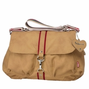 Babymel Katie Unisex Satchel Diaper Bag - Tan