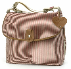 Babymel Satchel Diaper Bag - Red Stripe