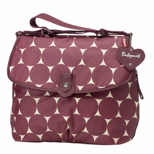 Babymel Satchel Diaper Bag - Cherry Jumbo Dot